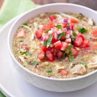 Green Chile Chicken & Quinoa Stew
