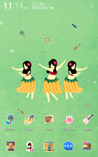 Hula Girls Atom Theme