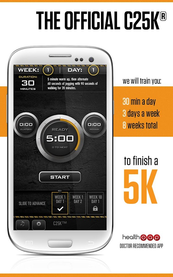 C25K®  - 5K Trainer Pro - screenshot