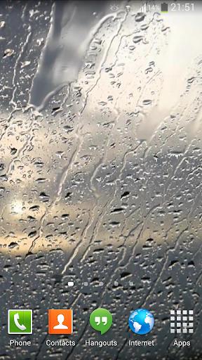 Raindrops Live Wallpaper HD 7
