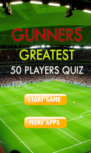 Gunner 50 Greatest Player Quiz