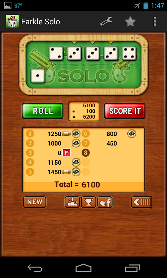 Farkle Solo - Free- screenshot