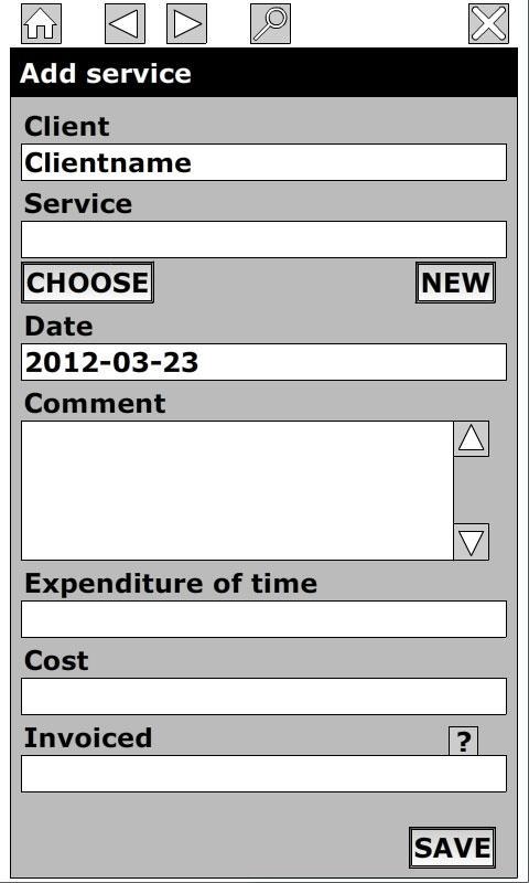 Timesheet for Billing +- screenshot