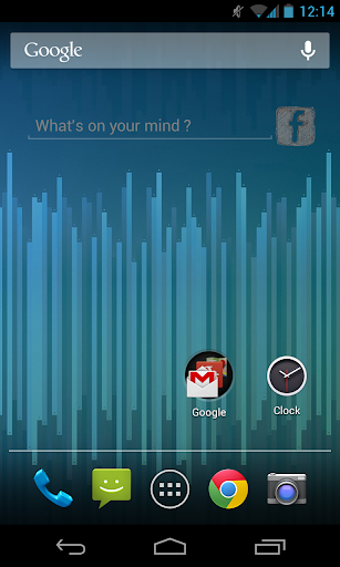 Facebook Status Update Widget