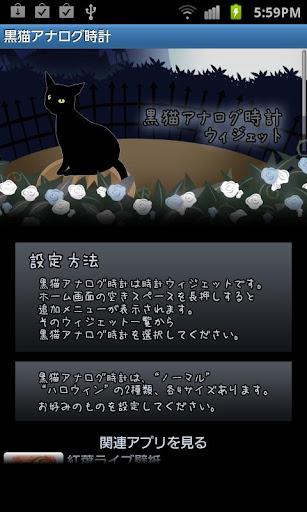 The Black Cat Analog Clock 1.14 Windows u7528 1