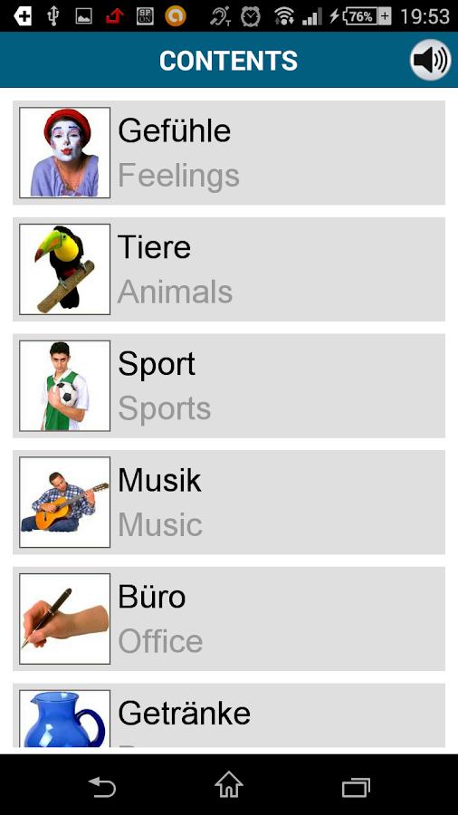 Learn German - 50 languages - screenshot