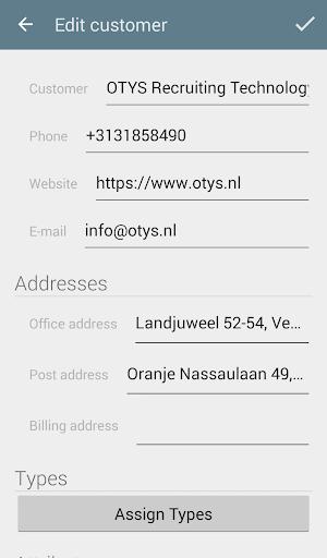 OTYS CRM app
