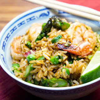 Shrimp & Asparagus Fried Rice.