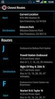 Screenshot of MobileMuni Ad-Free - SF Muni