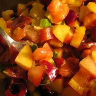 Tomato and Avocado Fruit Salad.