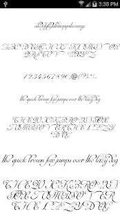 Fonts for FlipFont Script Font 1