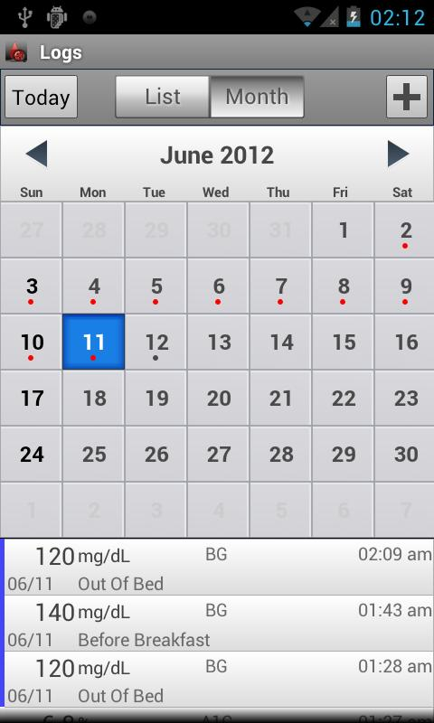 Glucose Buddy : Diabetes Log - screenshot