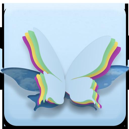 藍色蝴蝶動態壁紙 工具 App LOGO-APP試玩