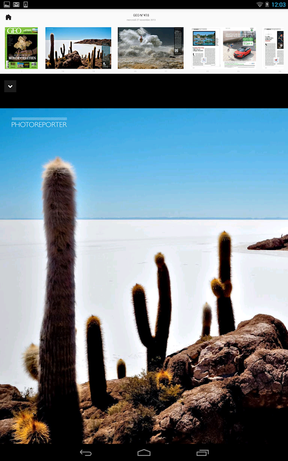 Le monde de GEO magazine- screenshot