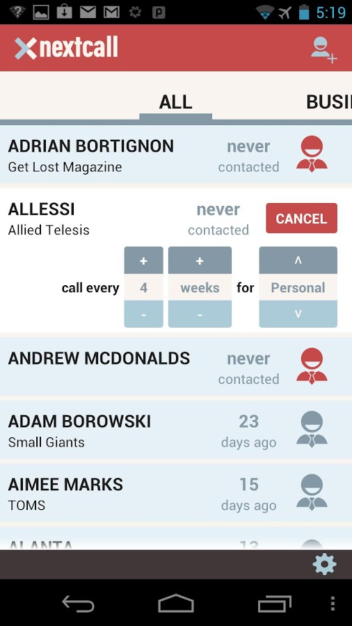 Nextcall - screenshot