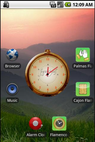 Flamenco Clock Widget - screenshot
