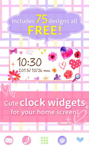 Cute Clock Widget 2 u3010FREEu3011 1.0.1 Windows u7528 1
