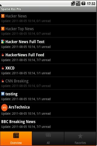 ★★★★★ Full Feed Sparse RSS Pro - screenshot