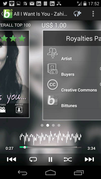 Bittunes- screenshot