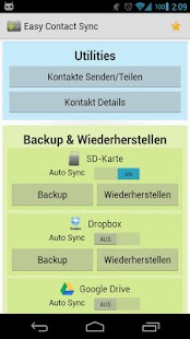 Easy Contact Sync (Backup) - screenshot thumbnail