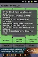 Screenshot of Hipster Calculator