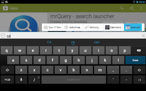 Mr.Query -Siri for your thumbs - screenshot thumbnail
