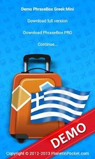 Phrasebook Greek Demo