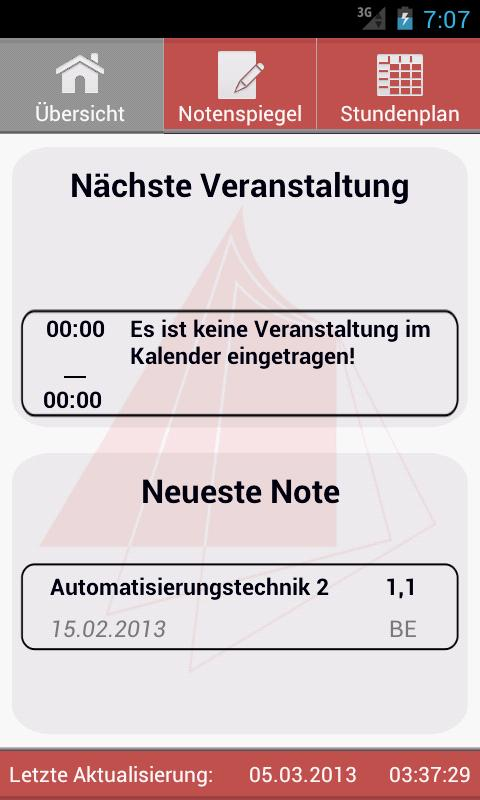 HS Karlsruhe NotenSpiegel - screenshot
