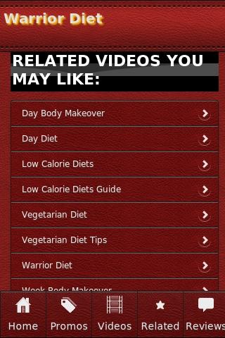 Warrior Diet - screenshot