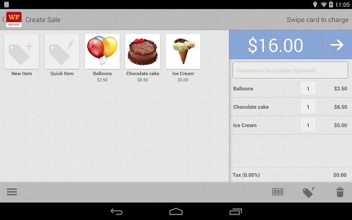 WF Mobile Merchant Tablet
