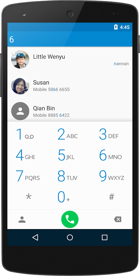 ExDialer - Dialer & Contacts: captura de pantalla