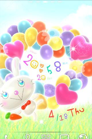 【免費個人化App】Balloon Rabbit LWP Trial-APP點子