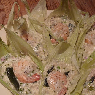 Easy Cheesey Corn and Shrimp Tamales.