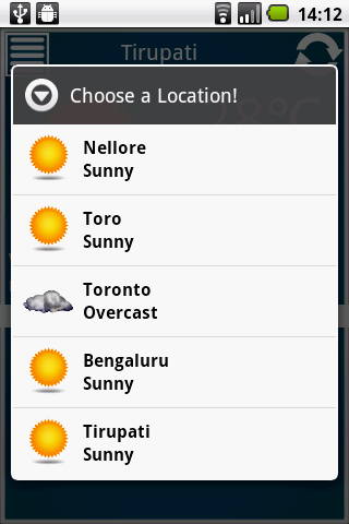 Weather Reporter- screenshot