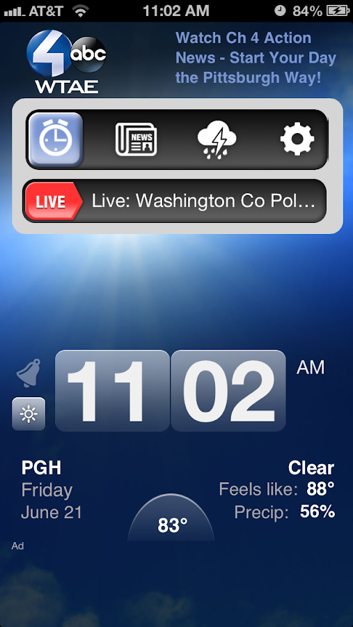 Alarm Clock Pittsburgh WTAE 4 - screenshot