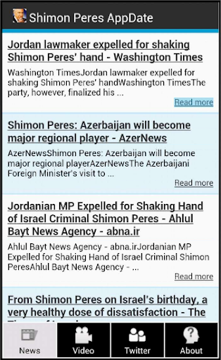 Shimon Peres AppDate