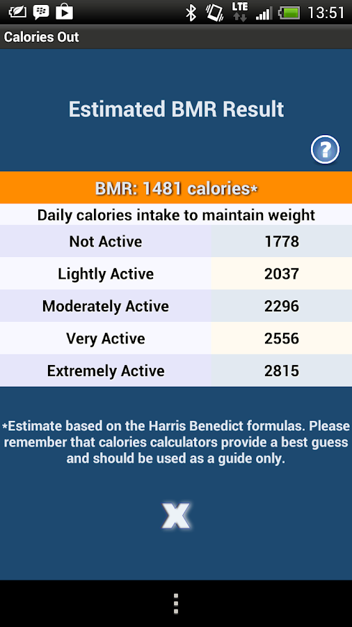 Calories Out - screenshot