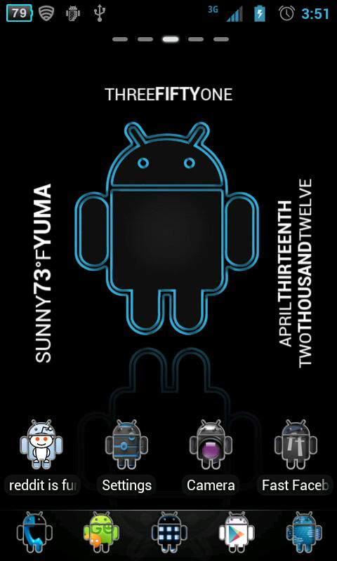 Androidified GO Launcher Theme - screenshot