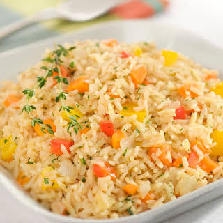 Veggie Brown Rice & Orzo Pilaf.