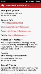 Boot Manager Lite- screenshot thumbnail