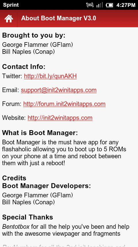 Boot Manager Lite - screenshot