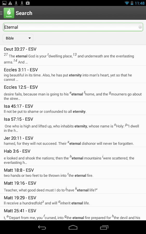 Faithlife Study Bible - screenshot