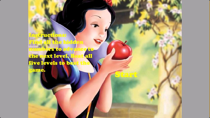Snow White Finding Numbers - screenshot