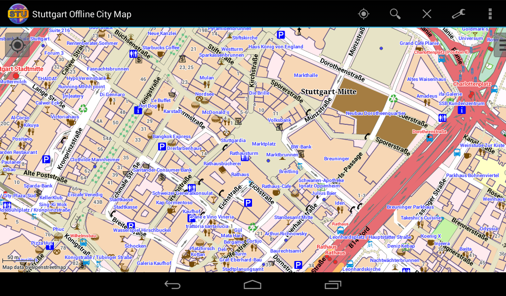 Stuttgart Offline City Map - screenshot