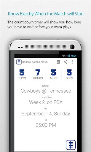 Dallas Football Alarm