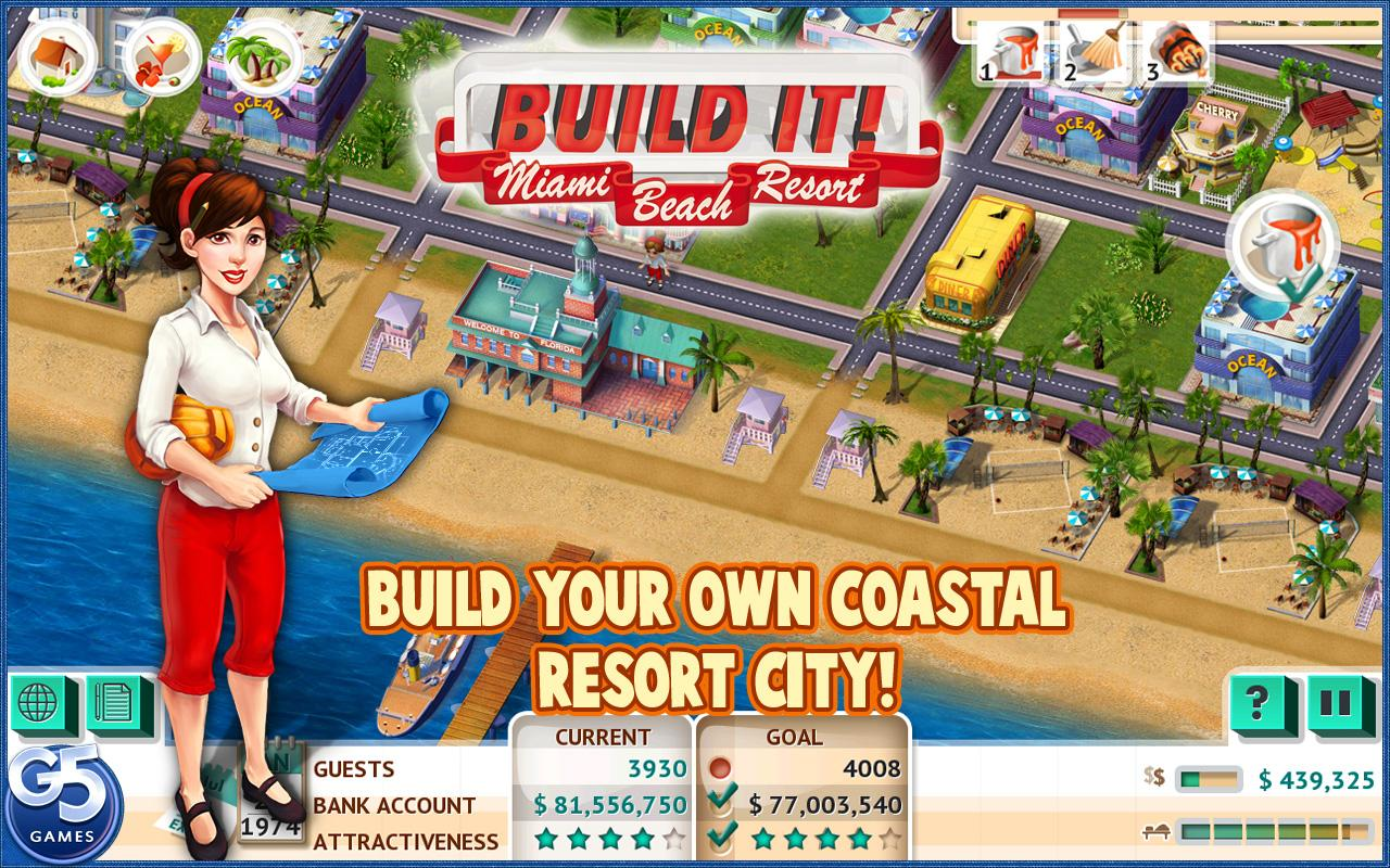 Build It! Miami Beach Resort- screenshot