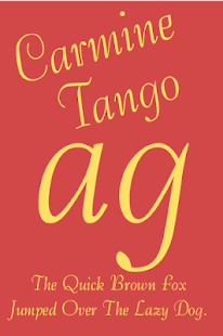 Download Android App Carmine Tango FlipFont for Samsung
