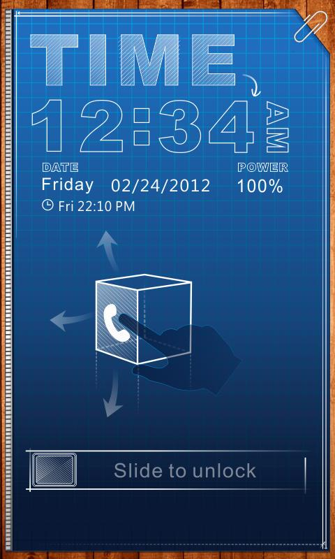 SketchX GO Locker Theme - screenshot