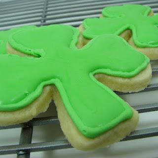 Shamrock Sugar Cookies with Royal Icing