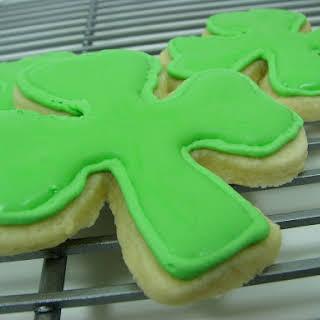 Shamrock Sugar Cookies with Royal Icing.